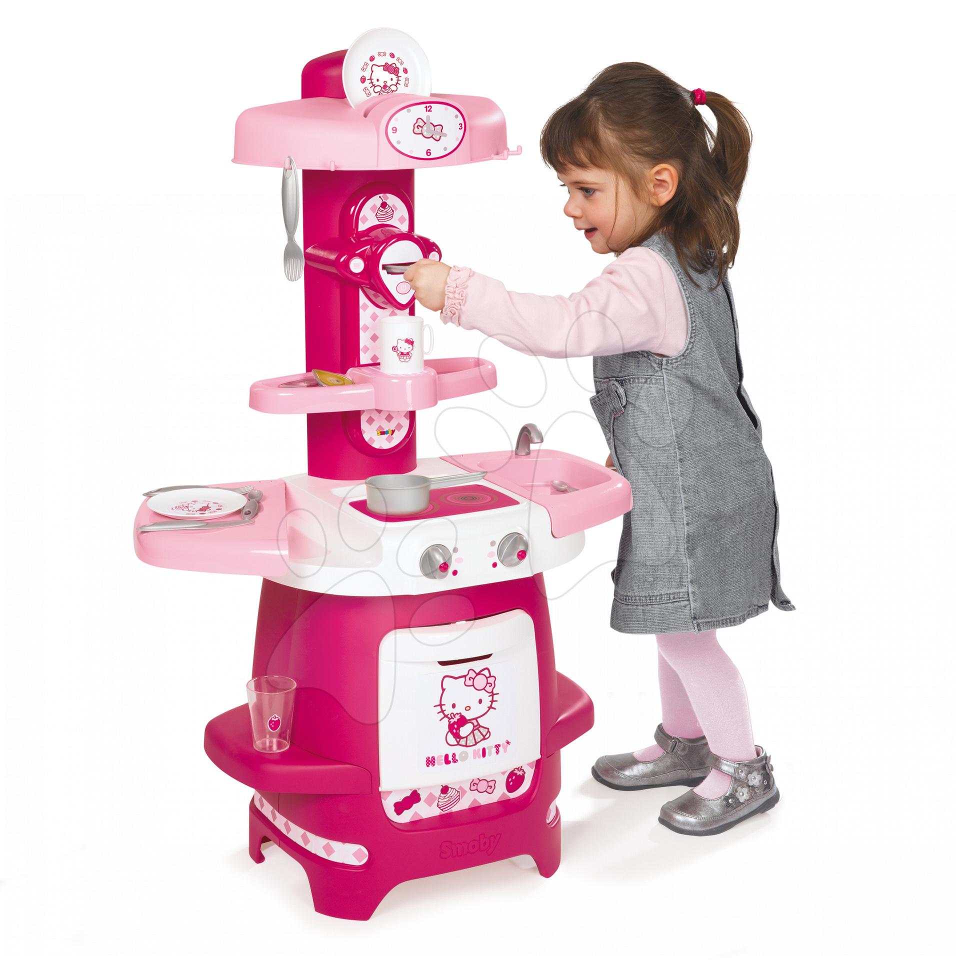 Staré položky - Kuchynka Hello Kitty Cooky Smoby s 19 doplnkami