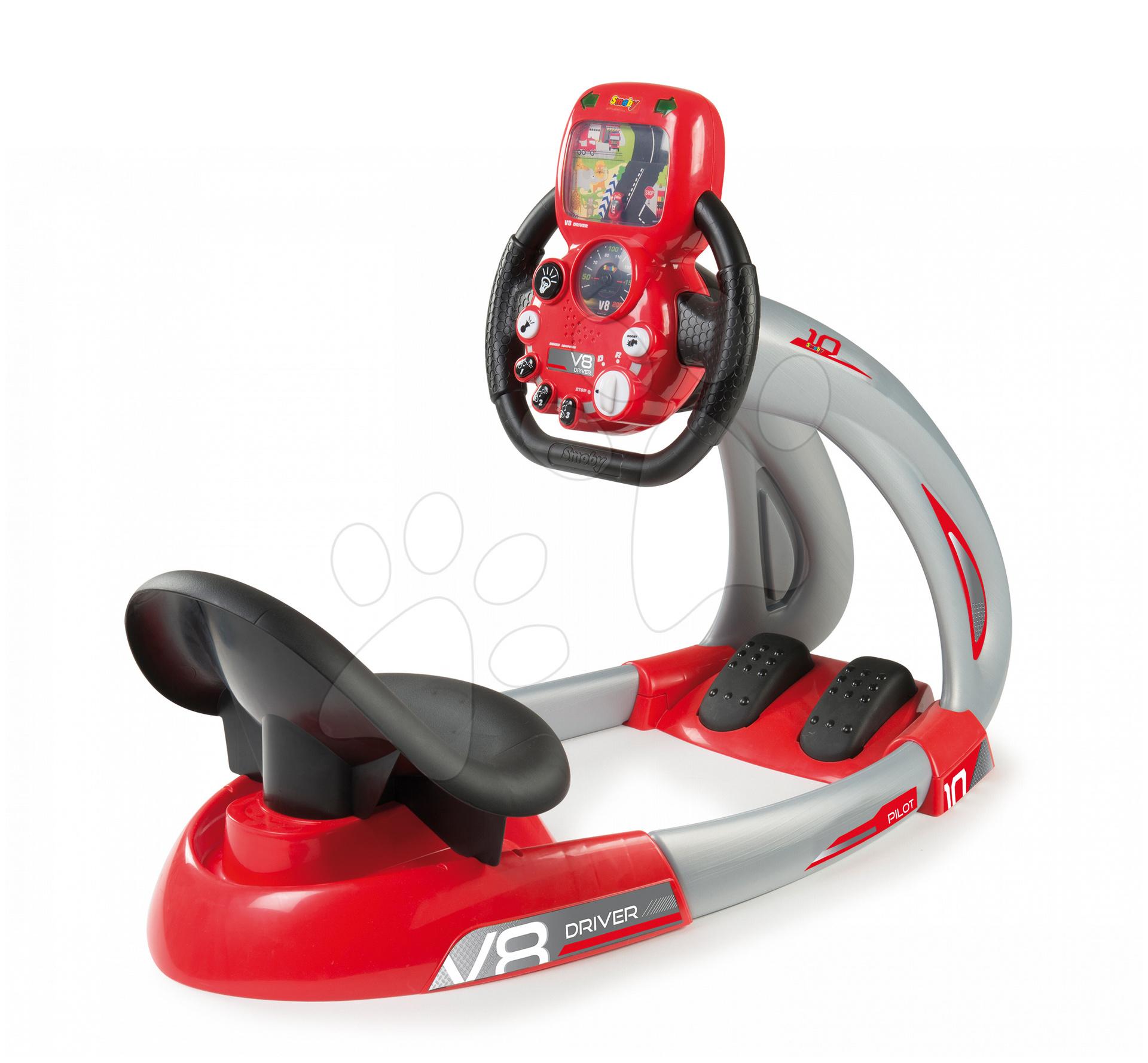 Trenažér pro děti V8 Driver Smoby elektronický se zvukem a světlem