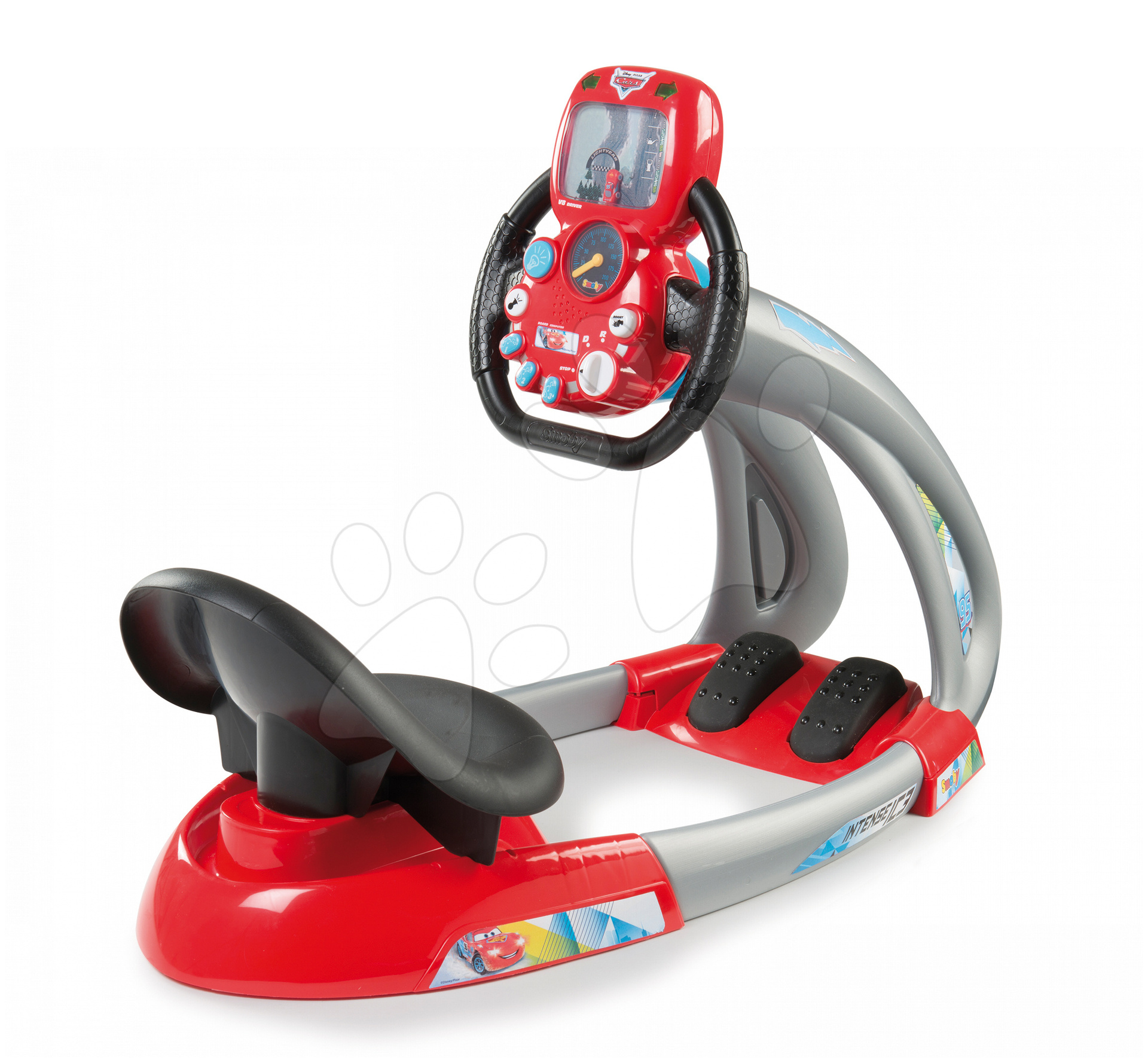 Trenažér pre deti - Elektronický trenažér V8 Cars Ice Driver Smoby so zvukom a svetlom