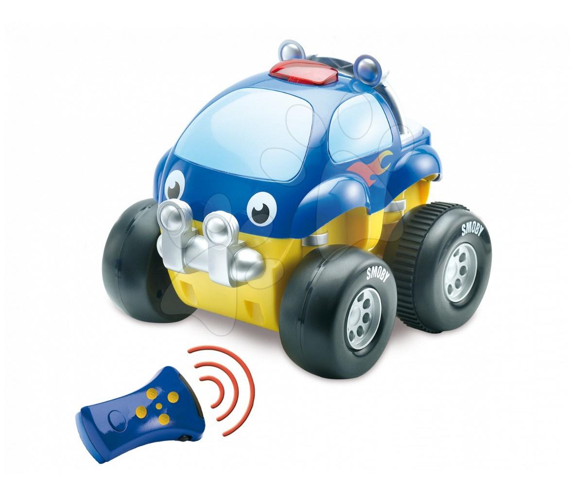Mașină cu telecomandă Vroom Planet 4x4 Smoby cu sunete luni  18*16*16,5 cm de la 18 luni
