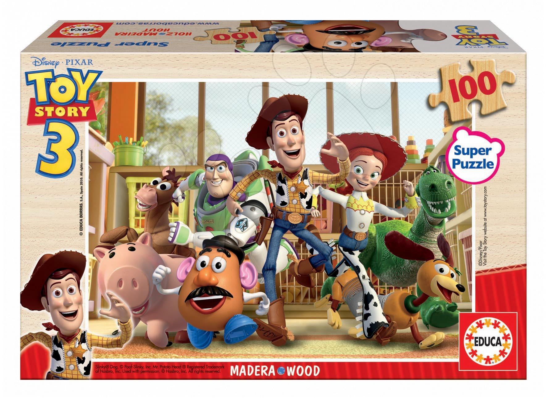Drevené puzzle Príbeh hračiek 3 Educa 100 dielov od 5 rokov