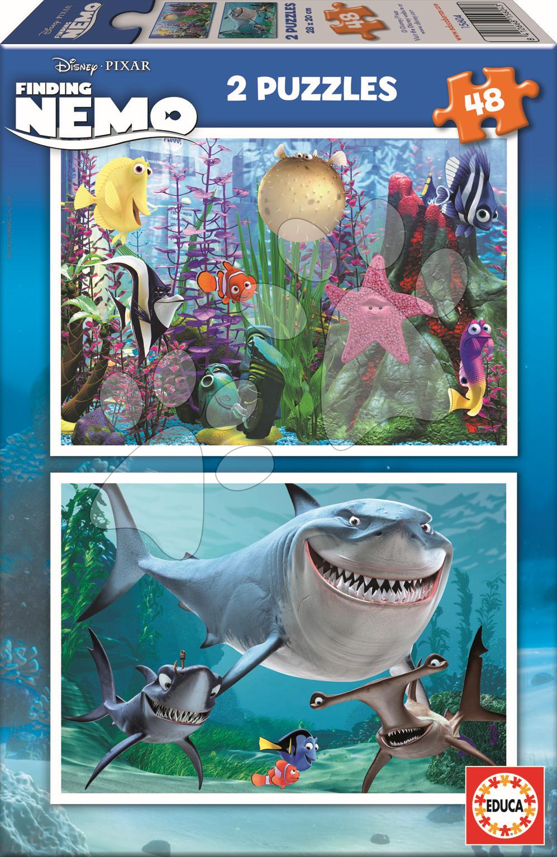 Puzzle Disney Hľadá sa Nemo Educa 2x 48 dielov