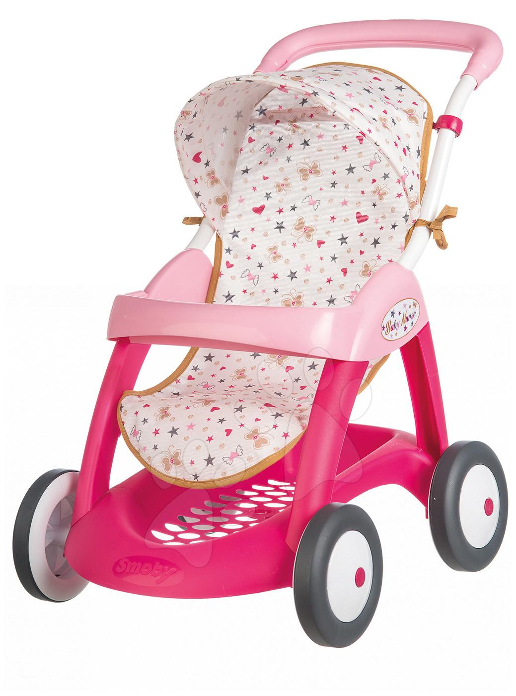 Smoby sportovní kočárek pro panenku Baby Nurse 251023 růžový