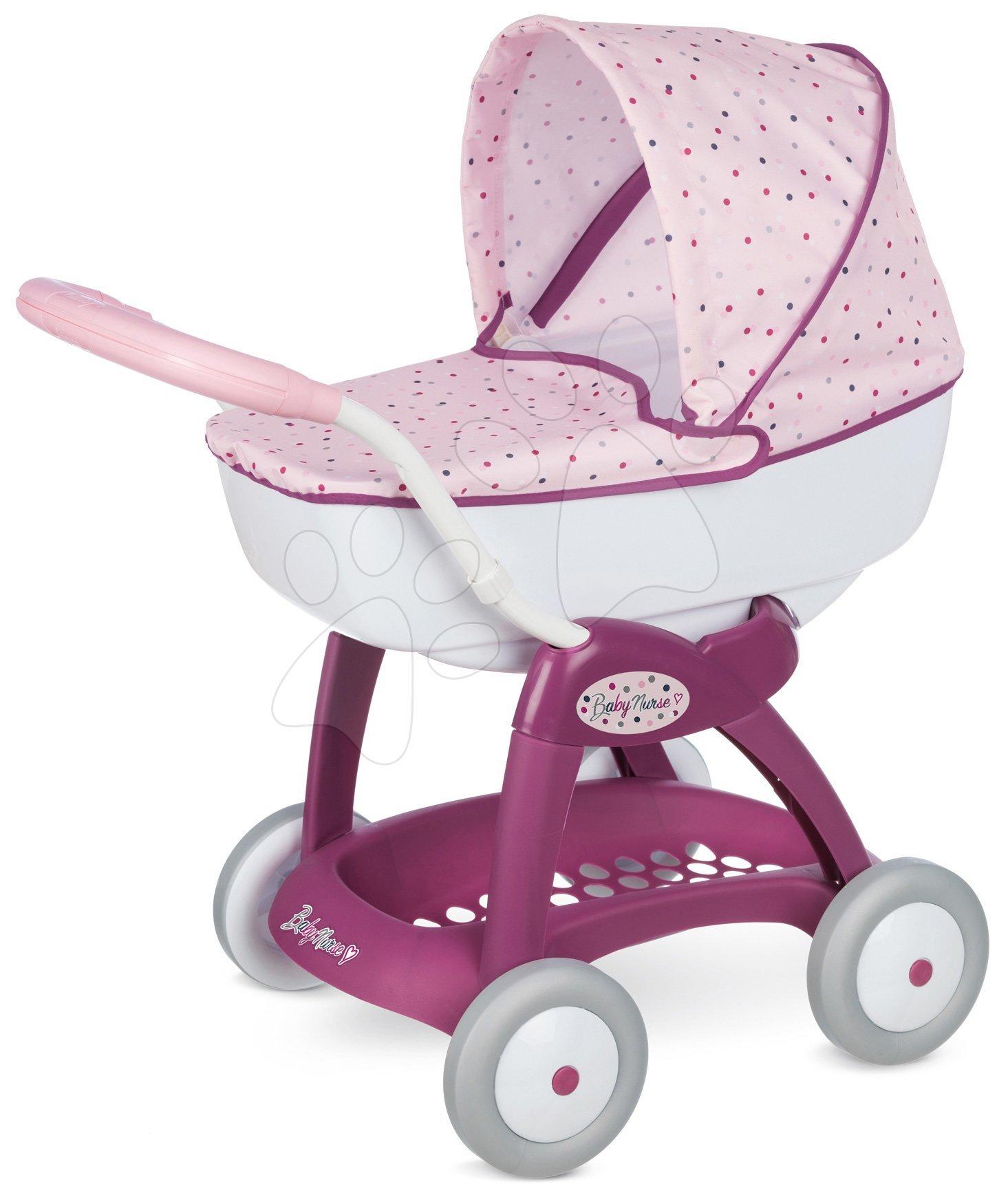 Vozički za dojenčke - Globoki voziček Violetta Petite Baby Nurse Smoby za dojenčke do 42 cm višina ročaja 55 cm od 18 mes