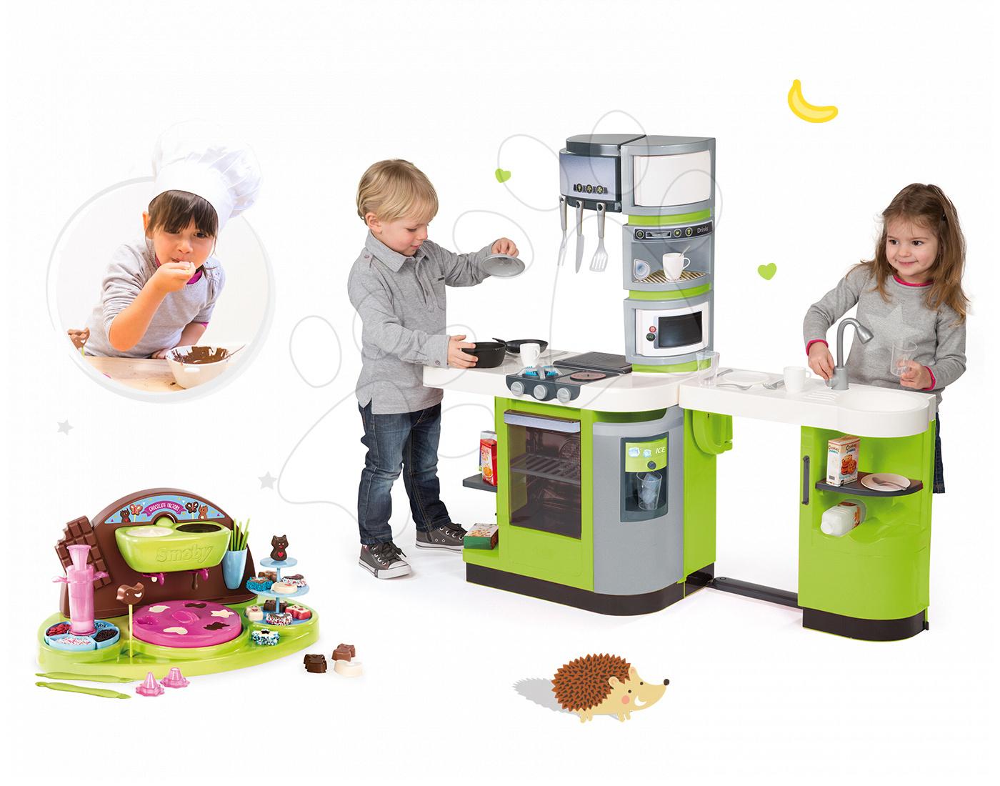 Set kuchyňka CookMaster Verte Smoby s ledem a hravá kuchařka Čokoládovna