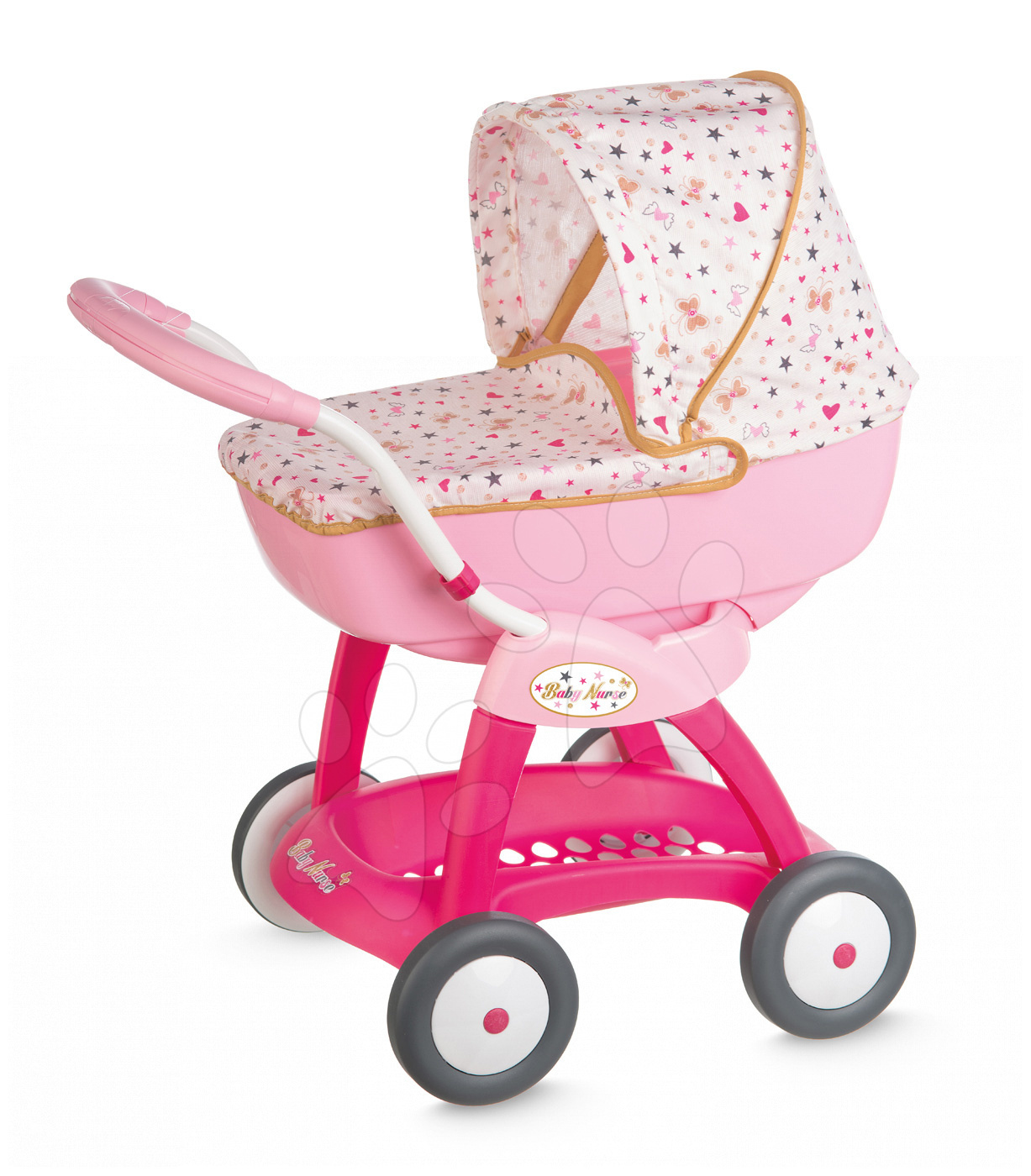 Smoby hlboký kočiarik pre bábiku Baby Nurse 251123 ružový