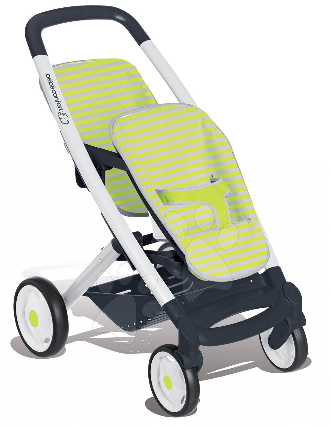 Smoby kočík pre dvojičky Maxi Cosi & Quinny Twin 253294 zeleno-šedý