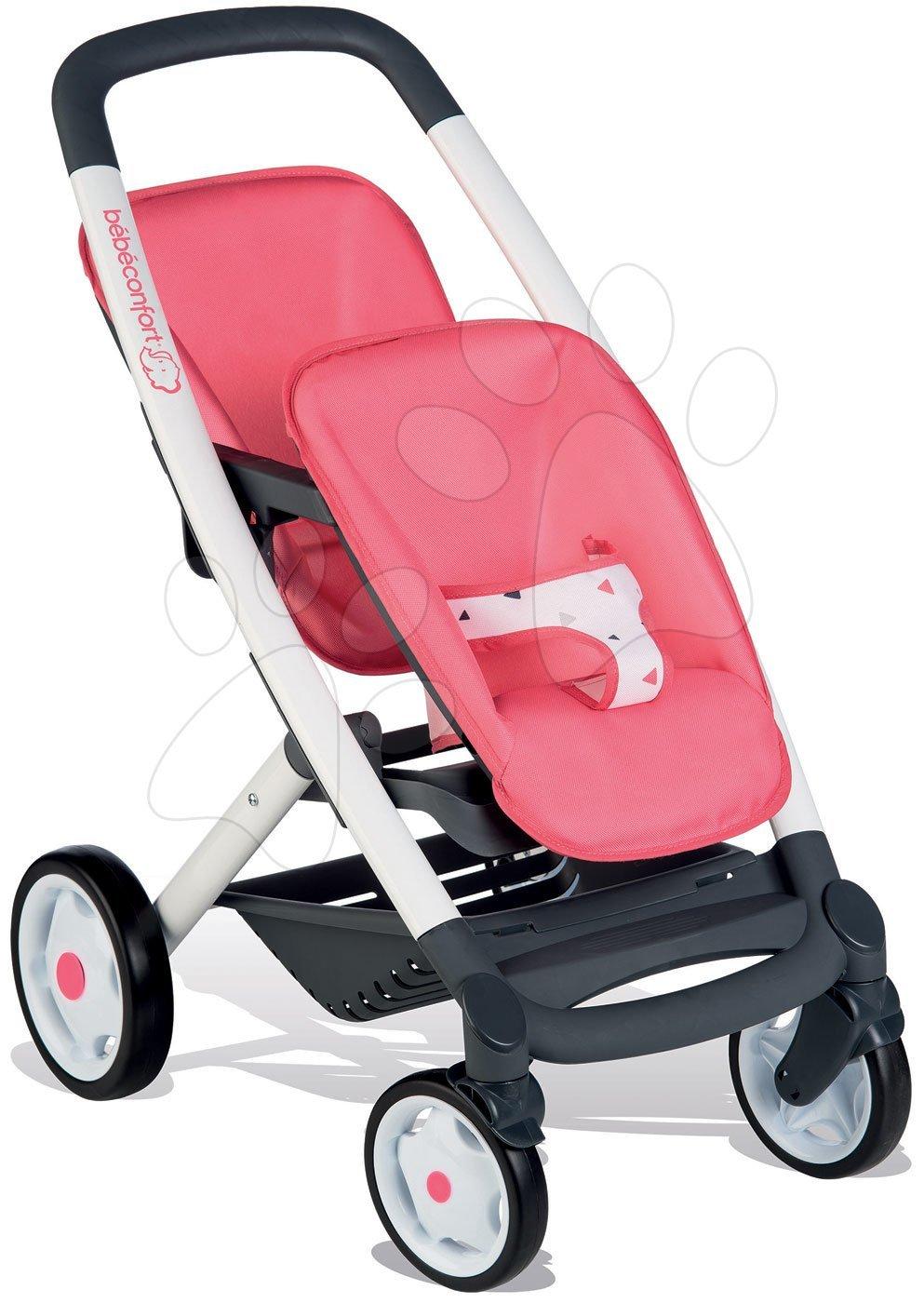 Smoby kočík pre dve bábiky Trio Pastel Maxi Cosi & Quinny 253298 ružový