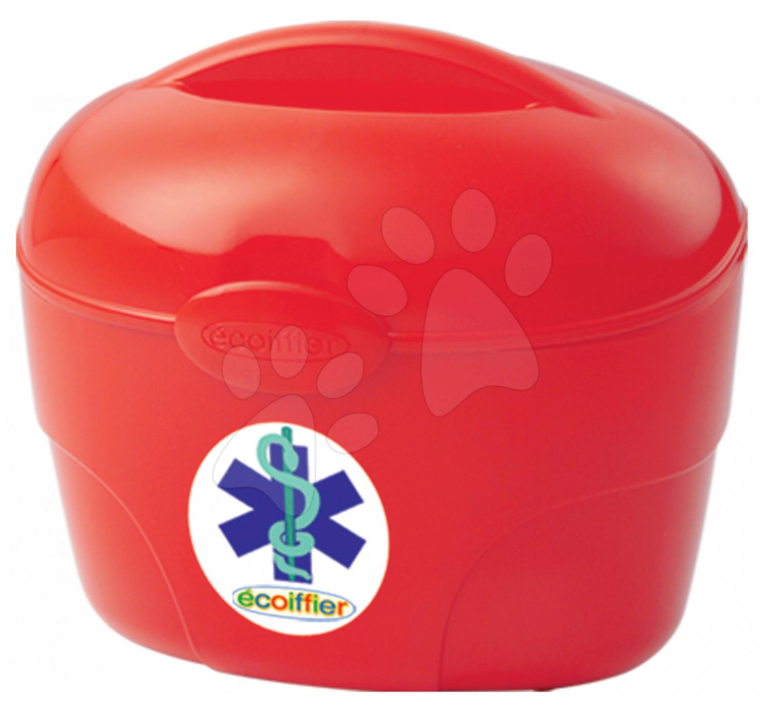 Lékařský kufřík Écoiffier se 6 doplňky červený