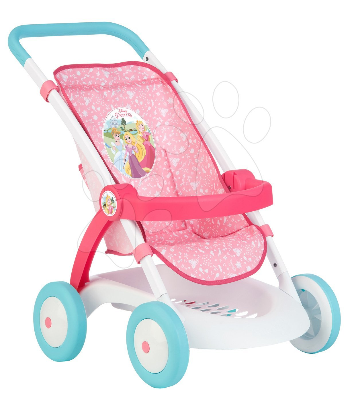 4e89406ecf062 Športový kočík Pastel Princezné Disney Smoby pre 42 cm bábiku s výškou  rúčky 58 cm 57