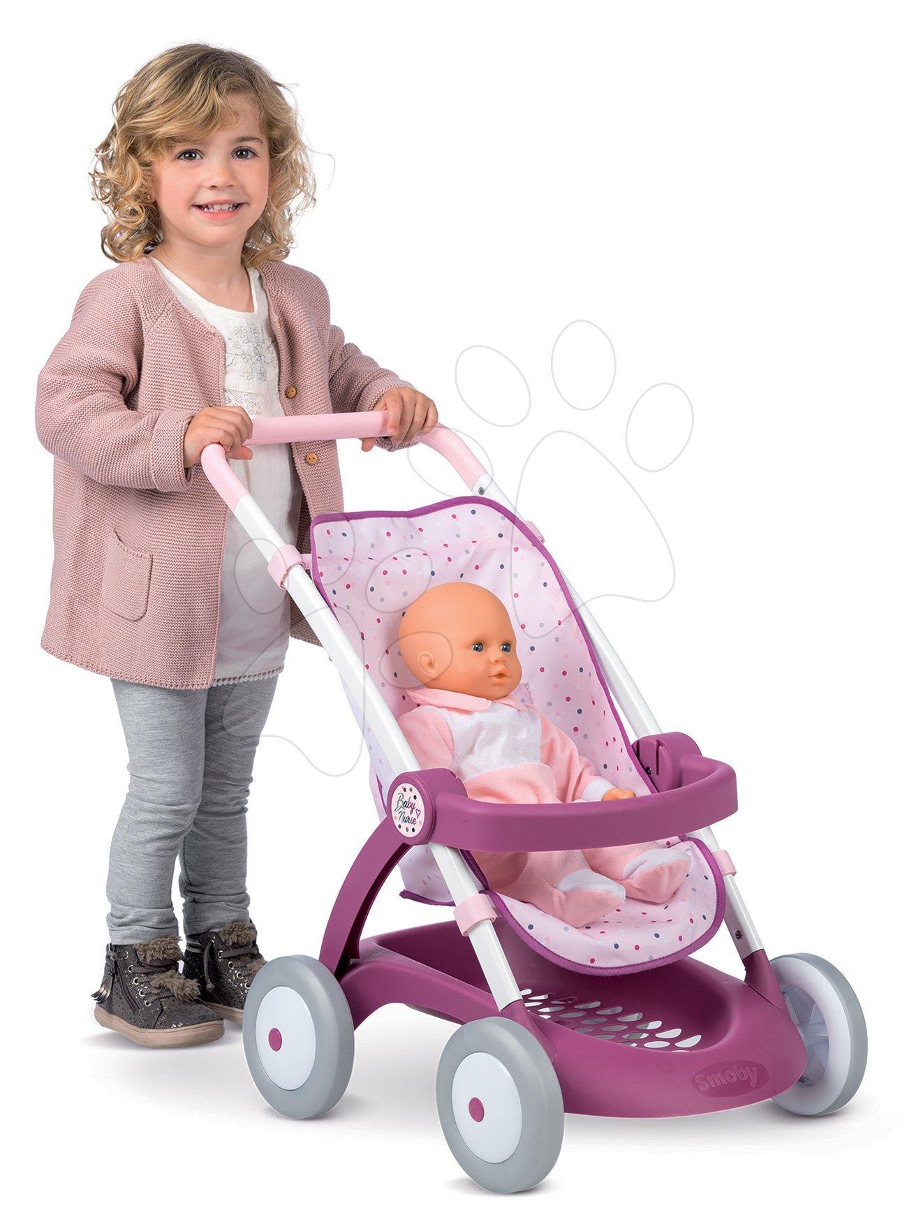 Kočík športový Violette Baby Nurse Smoby pre bábiky (55 cm rúčka) od 18 mesiacov