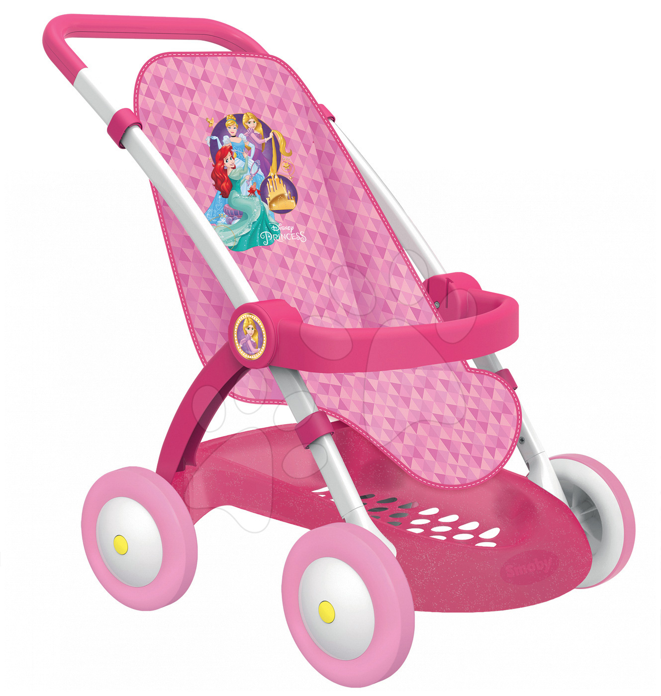 Športový detský kočík pre bábiku Disney Princezné od 18 mesiacov 254011 ružový