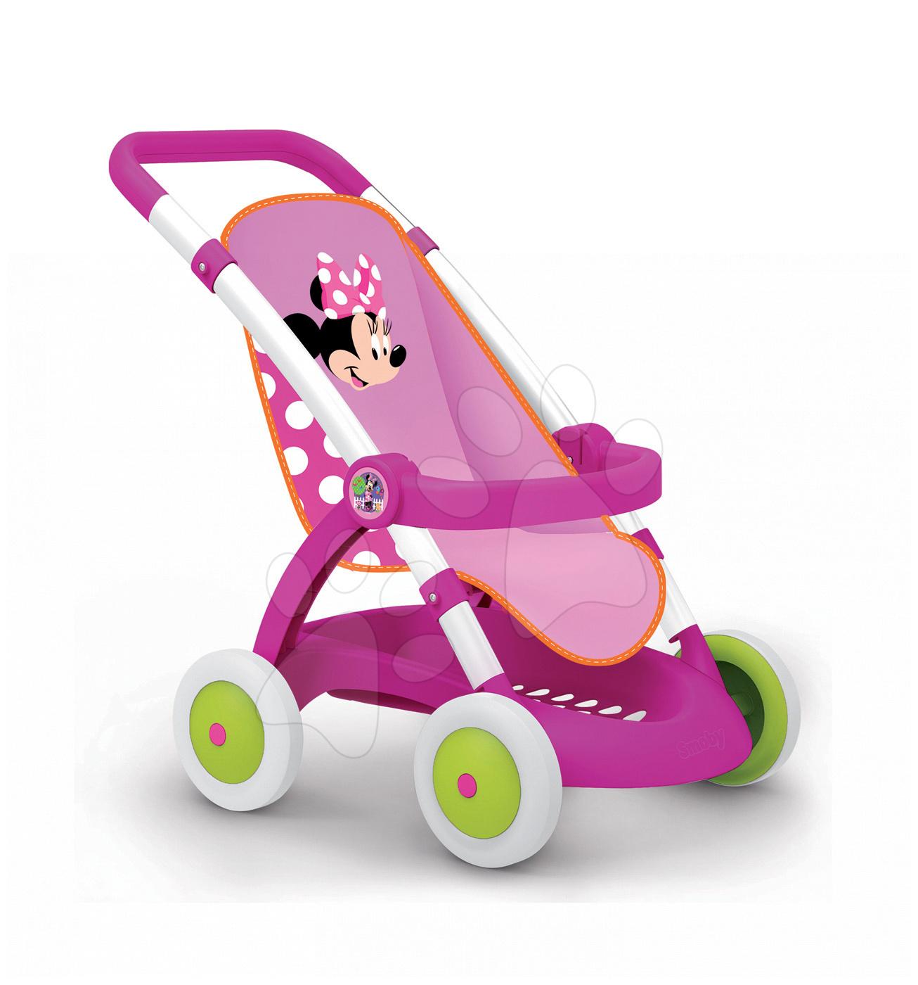 Kočíky od 18 mesiacov - Kočík pre bábiku Minnie Smoby športový (58 cm rúčka) od 18 mes