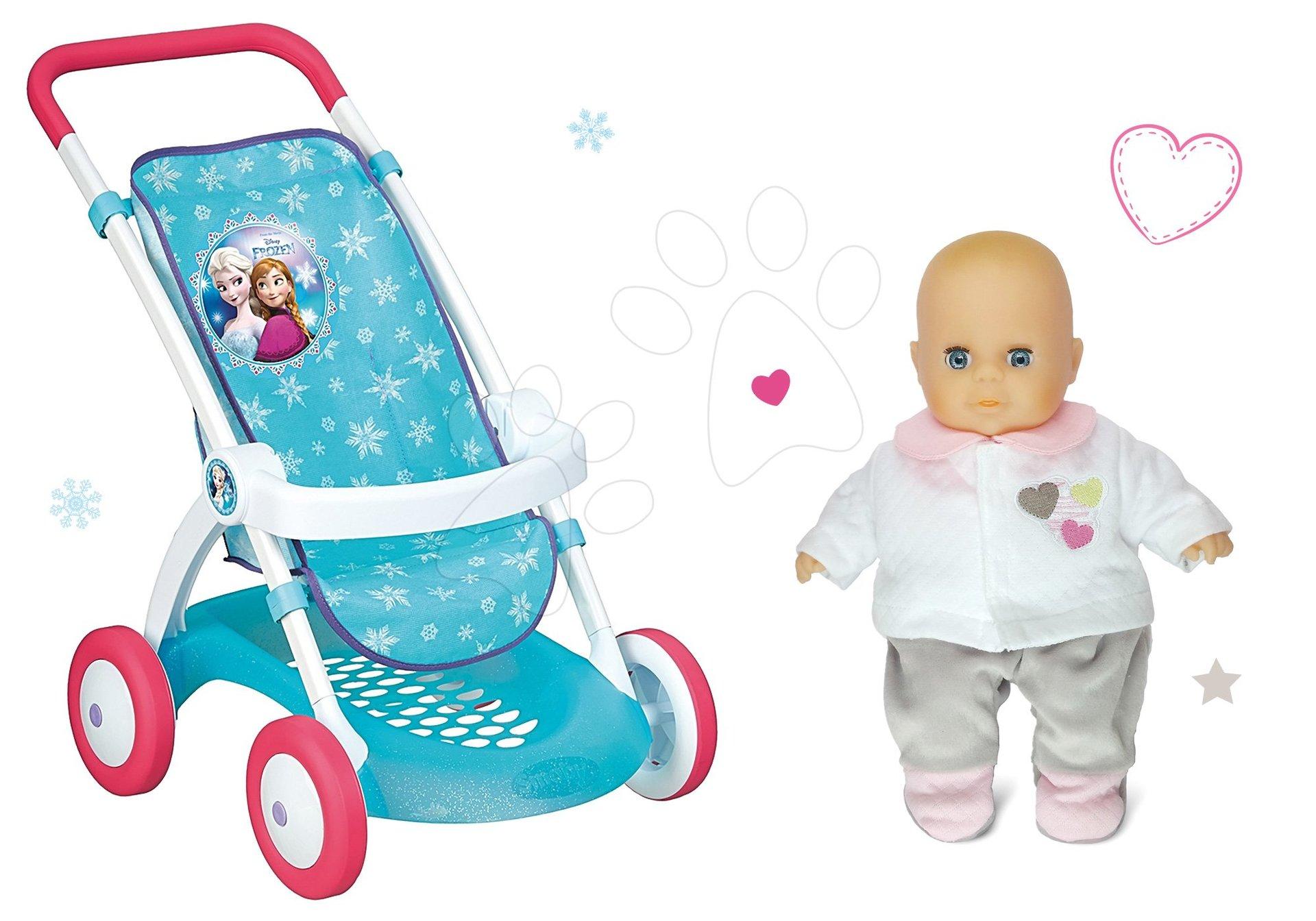 Smoby set športový kočík pre bábiku Frozen Disney s darčekom bábikou 254045-1