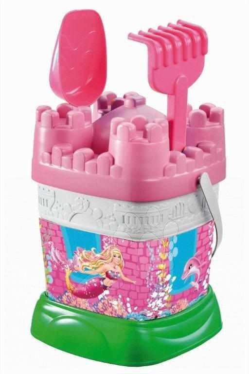 Kbelíky do písku - Kbelík hrad Barbie - set Mondo