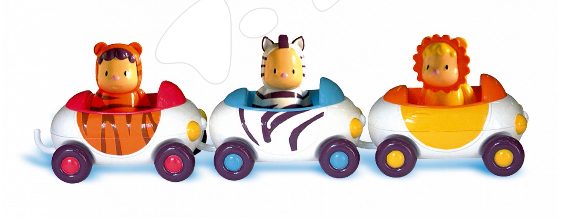 Maşini Imagin Car Cotoons Smoby 3 bucăţi de la 12 luni