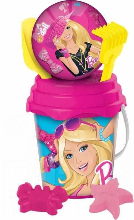 Kbelík Barbie s míčkem - set Mondo
