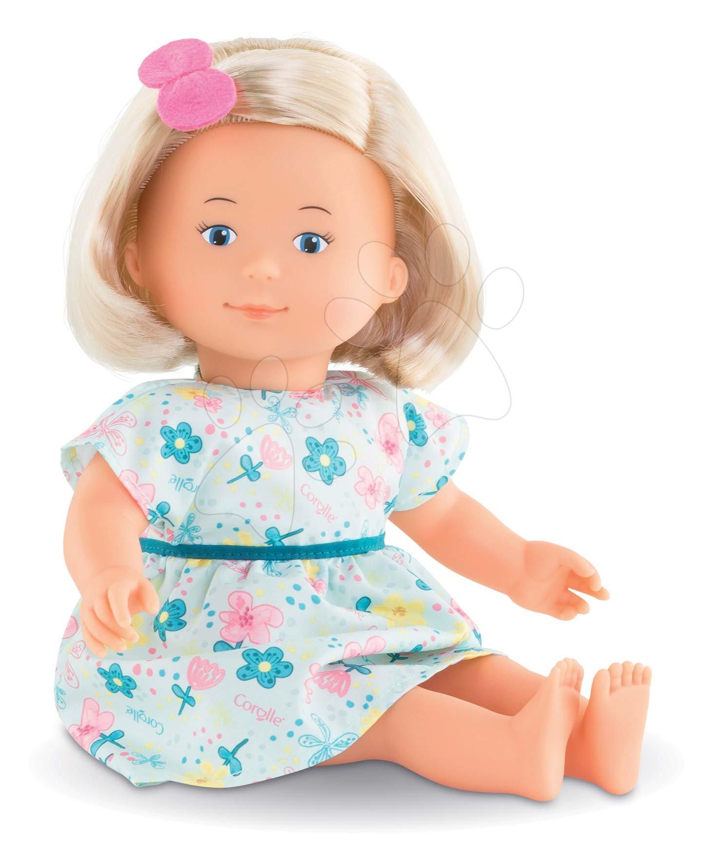 Păpuși de la 18 luni - Păpușă cu rochie florală Jasmine Florolle Ma Premiere Poupee Corolle cu ochi albaștri 32 cm blondă de la 18 luni