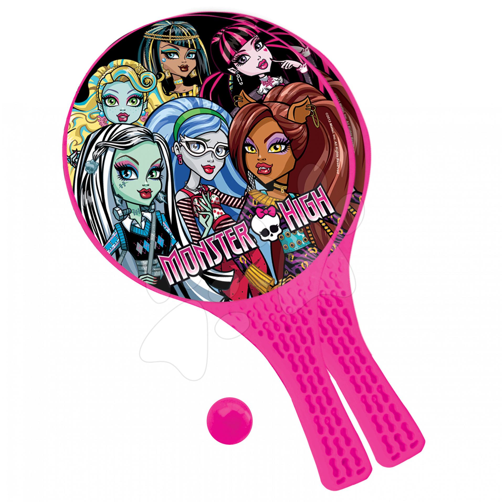 Staré položky - Plážový tenis set Monster High Mondo 2 ks + loptička s 2 raketami a loptičkou