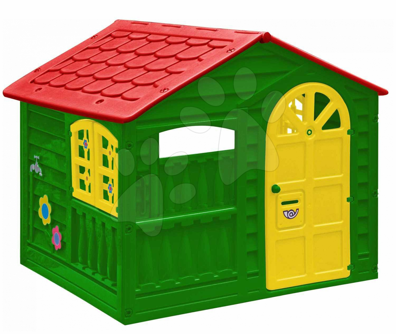 Domčeky pre deti - Záhradný domček PalPlay zeleno-žltý