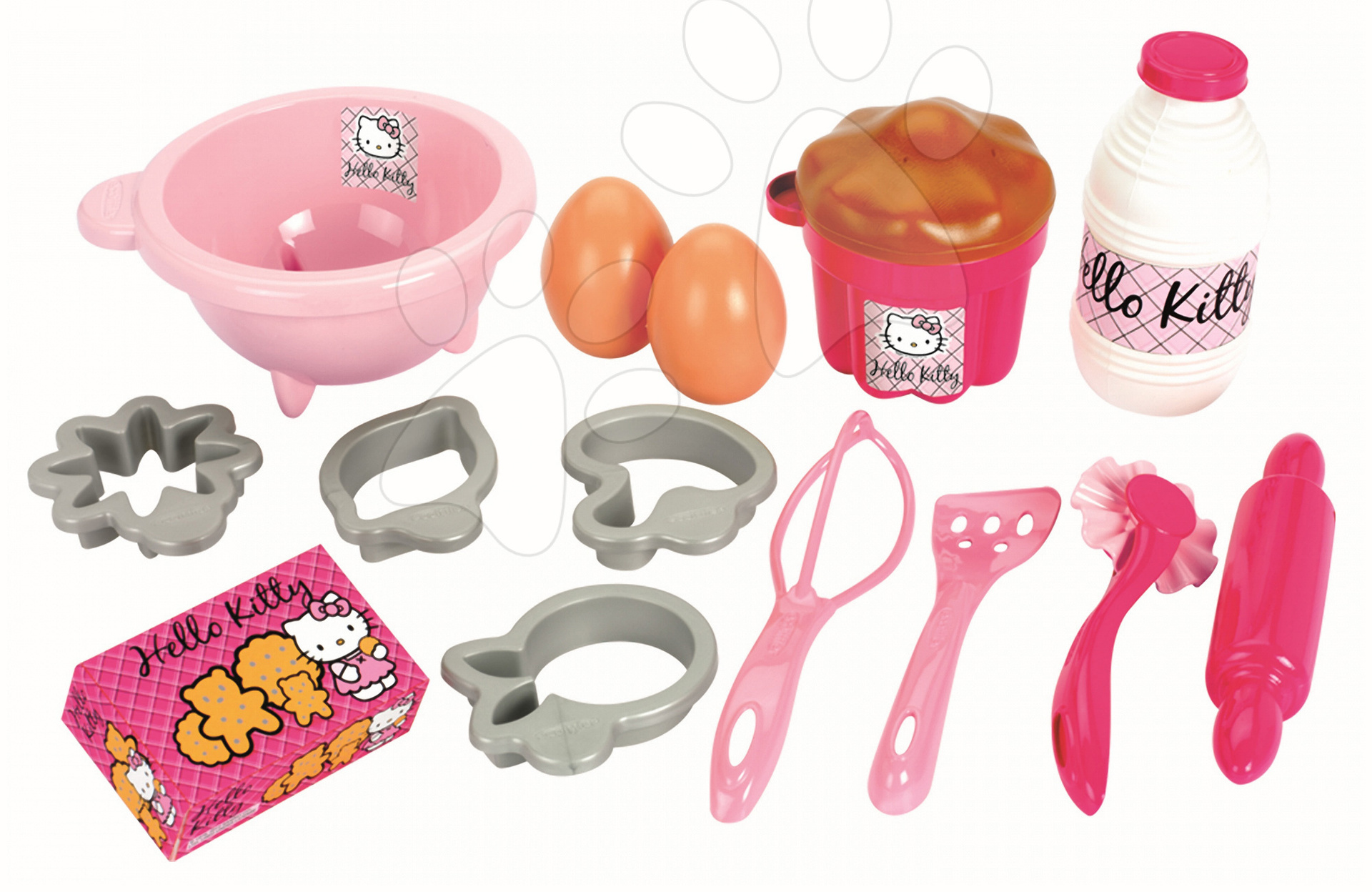 Set na pečenie sladkostí Hello Kitty Écoiffier so 17 doplnkami od 18 mes