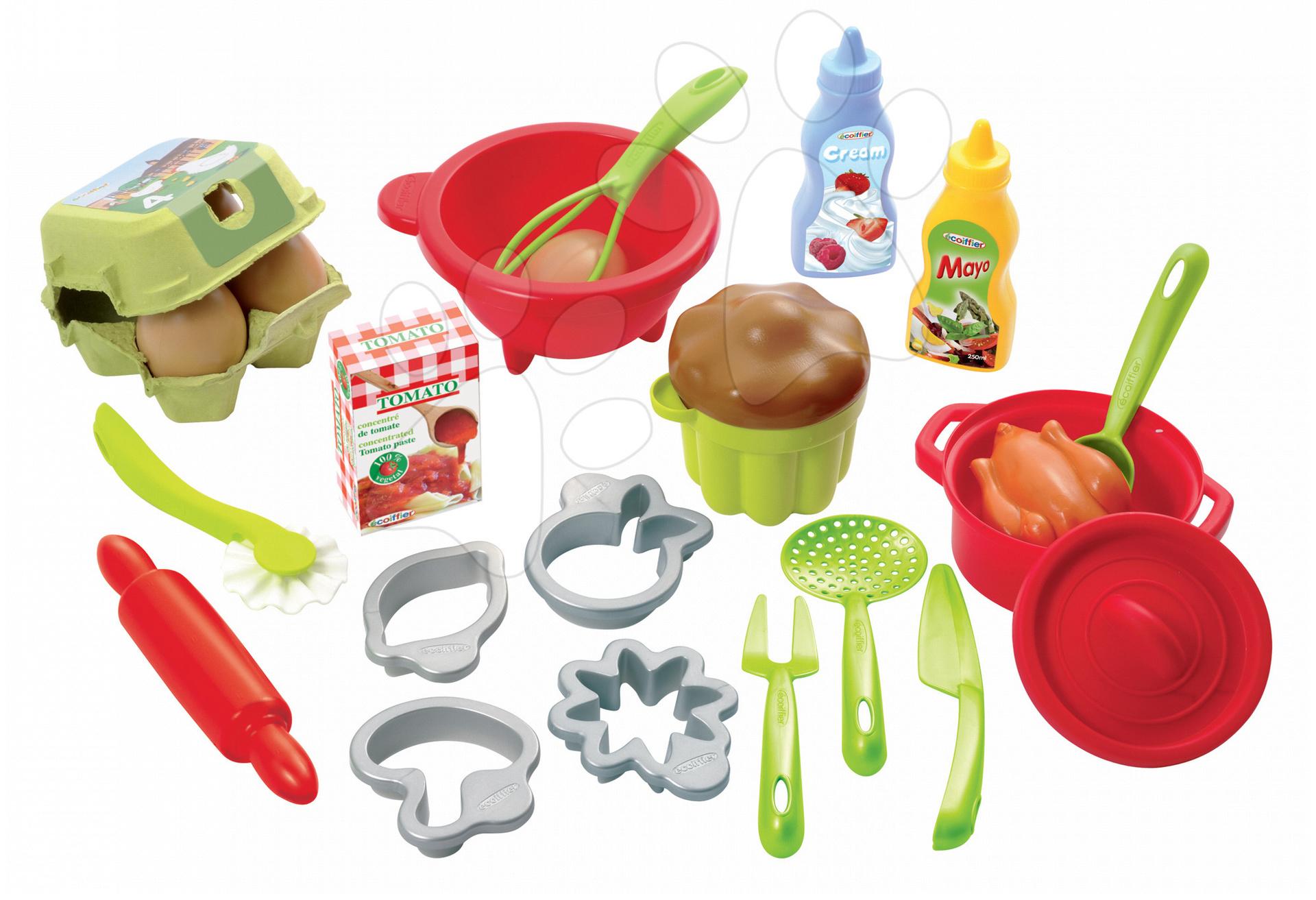 Écoiffier detská súprava na varenie a pečenie 100% Chef 2617-Z zeleno-červená