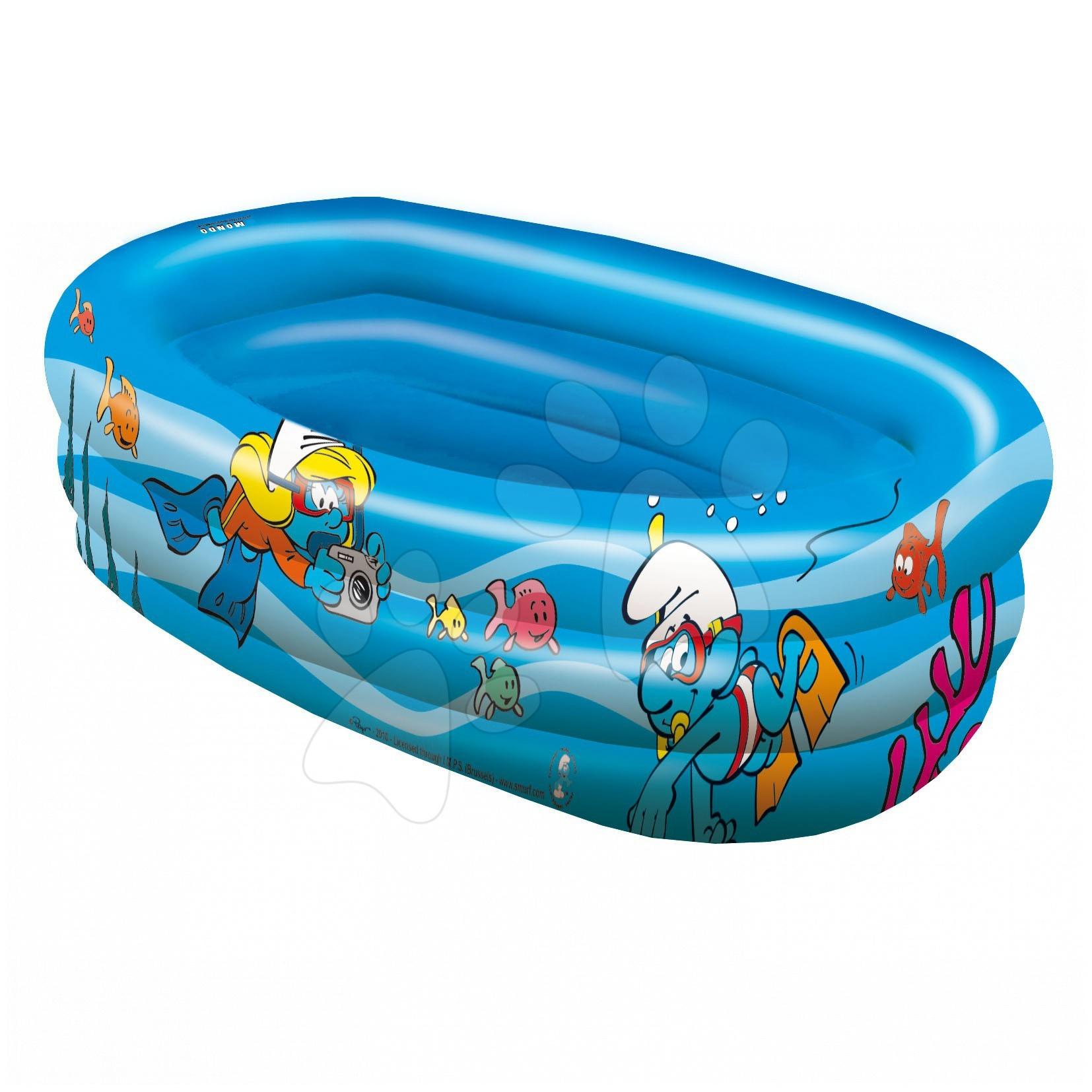 Nafukovací bazén Šmoulové Mondo tříkomorový od 10 měsíců