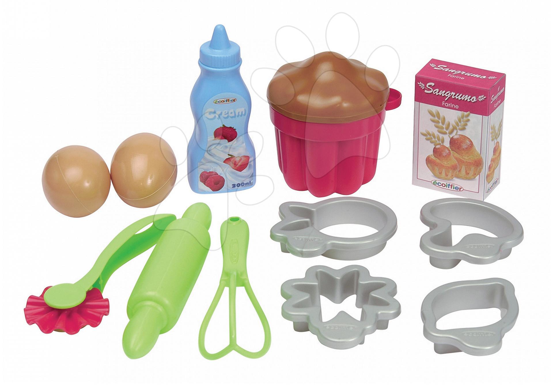 Écoiffier detské doplnky do kuchyne na pečenie 2642 zeleno-strieborné