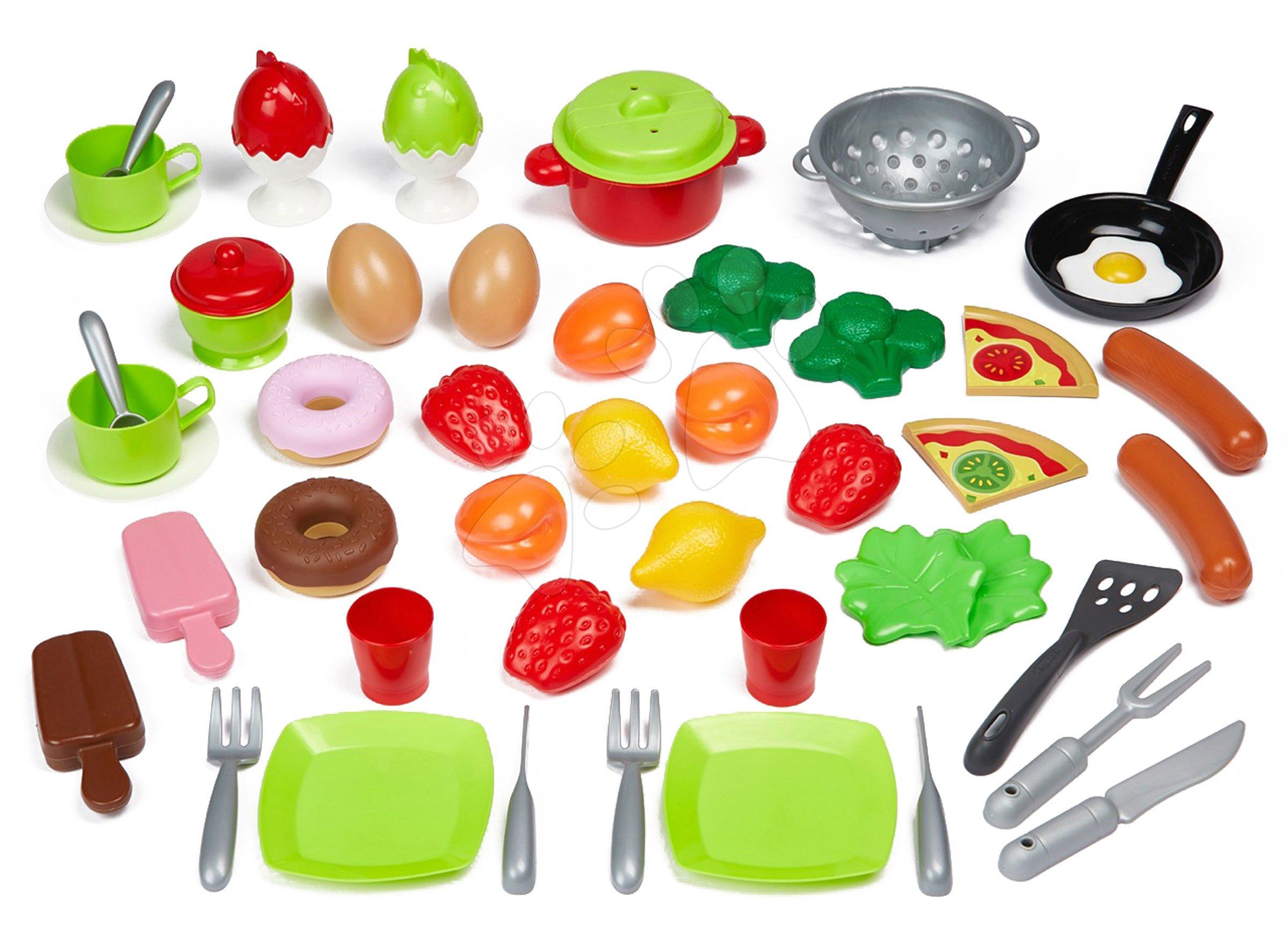 Potraviny a riad pre kuchynku 100% Chef Écoiffier 50 druhov od 18 mes