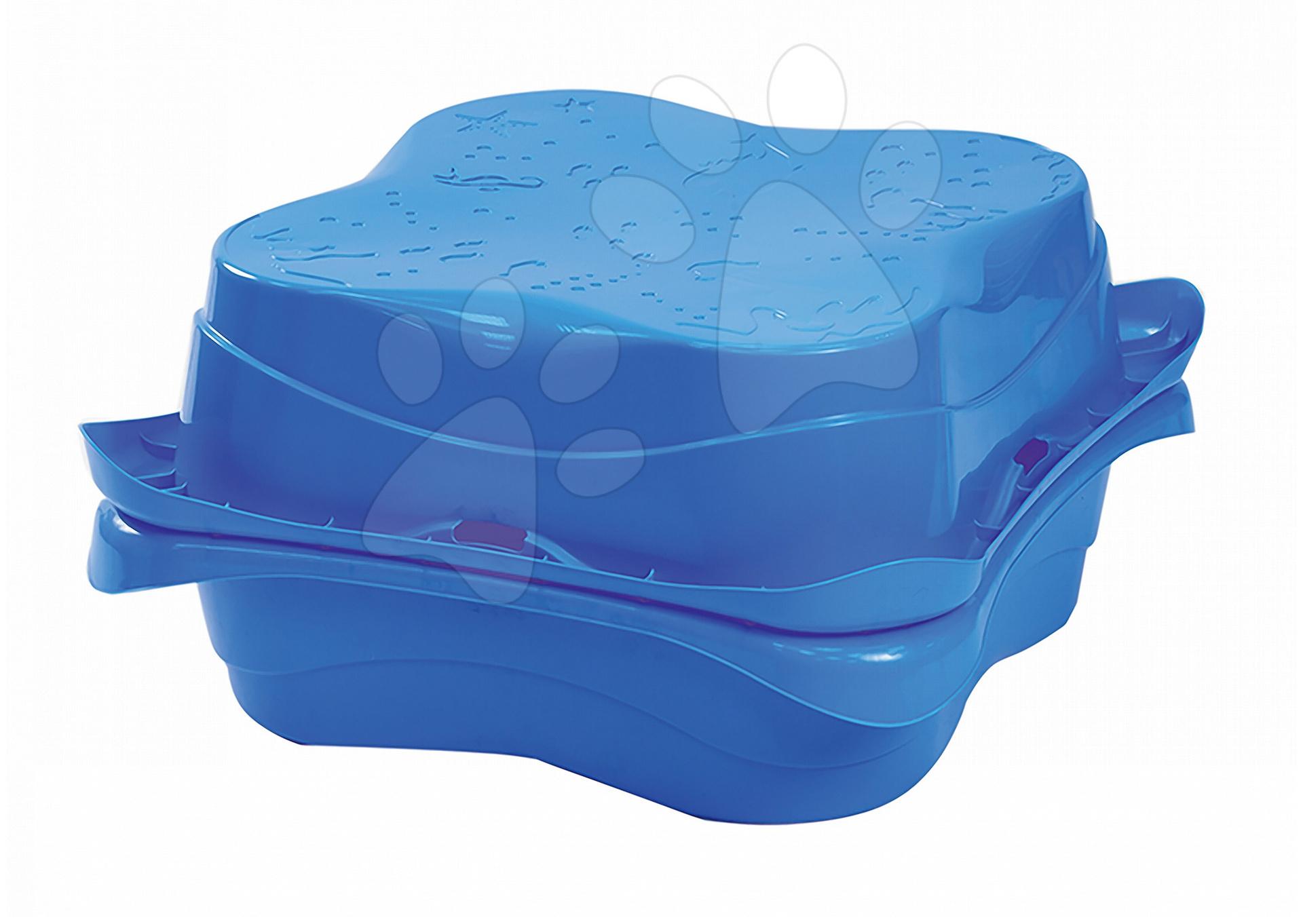 Pieskoviská pre deti - Sada 2 pieskovísk Lagoon Starplast objem 2x62 litrov modré od 24 mes