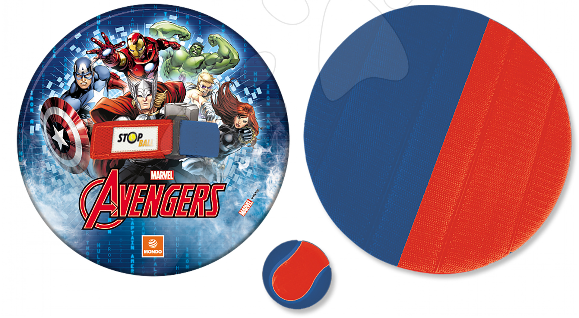 Športové hry pre najmenších - Hra Avengers Stop Ball Mondo na suchý zips
