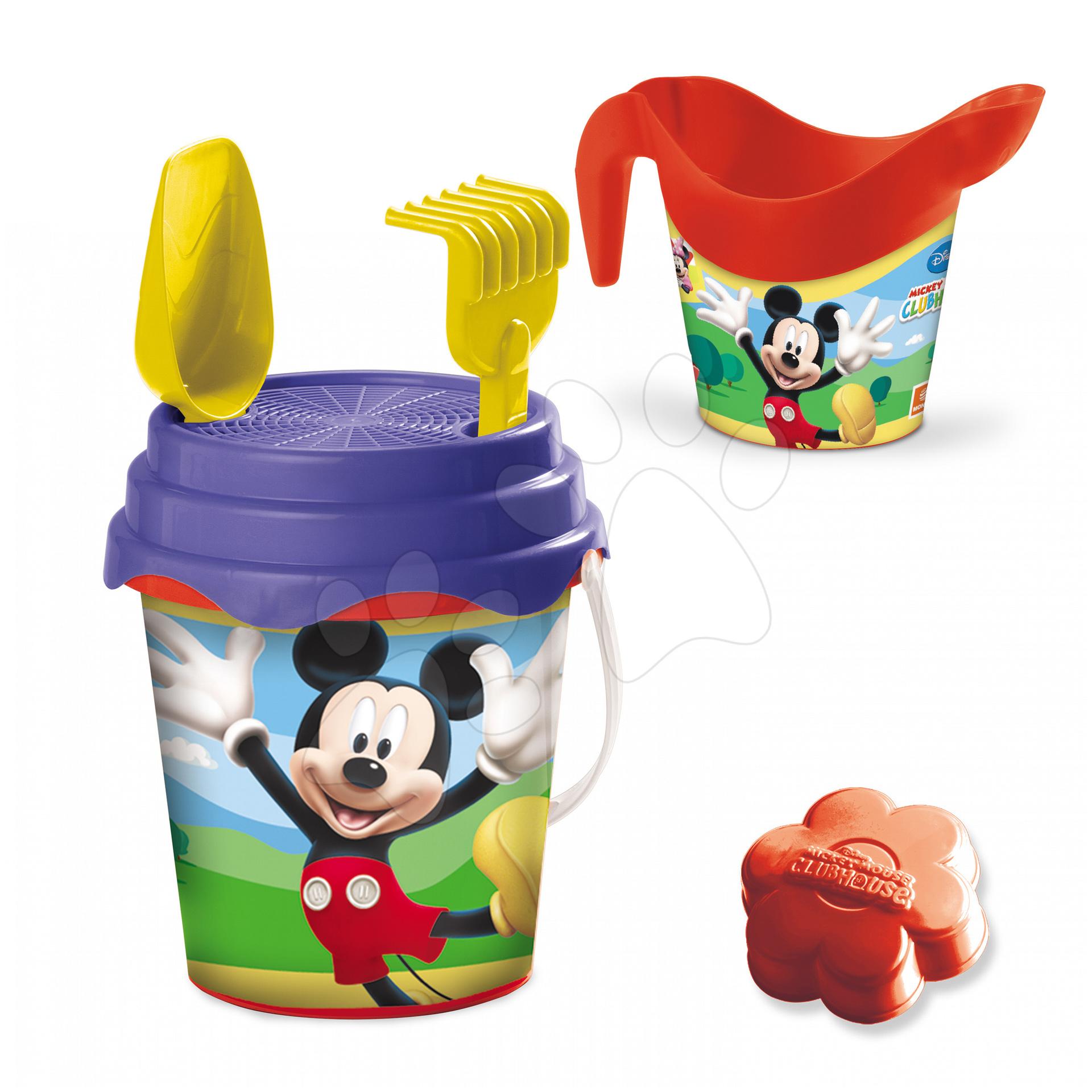 Vedierka do piesku - Vedro set Mickey Mouse s krhlou Mondo 7 dielov (výška 17 cm) od 18 mes