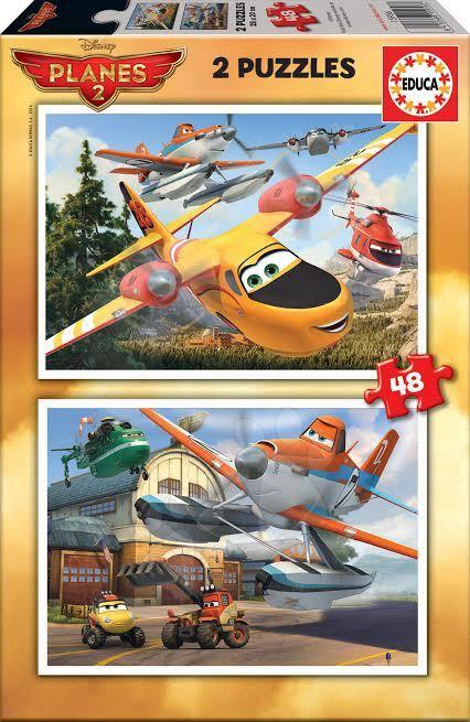 Detské puzzle do 100 dielov - Puzzle Lietadlá Educa 2x 48 dielov