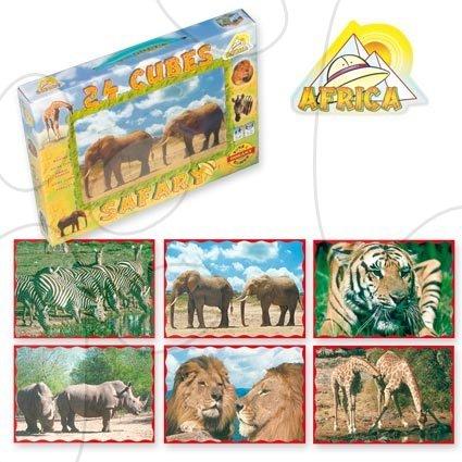 Veľké rozprávkové kocky Safari Dohány 24 dielov