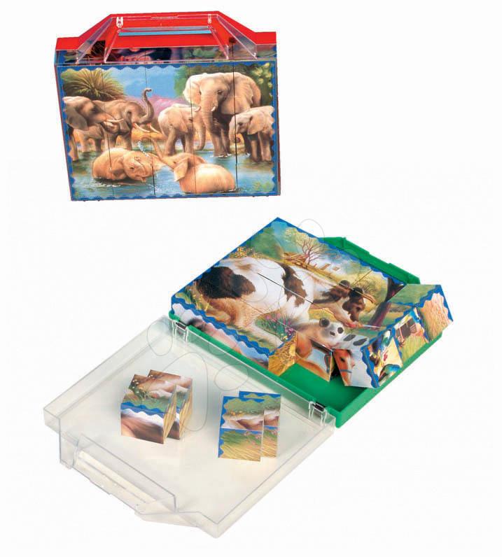 Cuburi mari cu poveşti Safari sălbatic Dohány 24 de piese