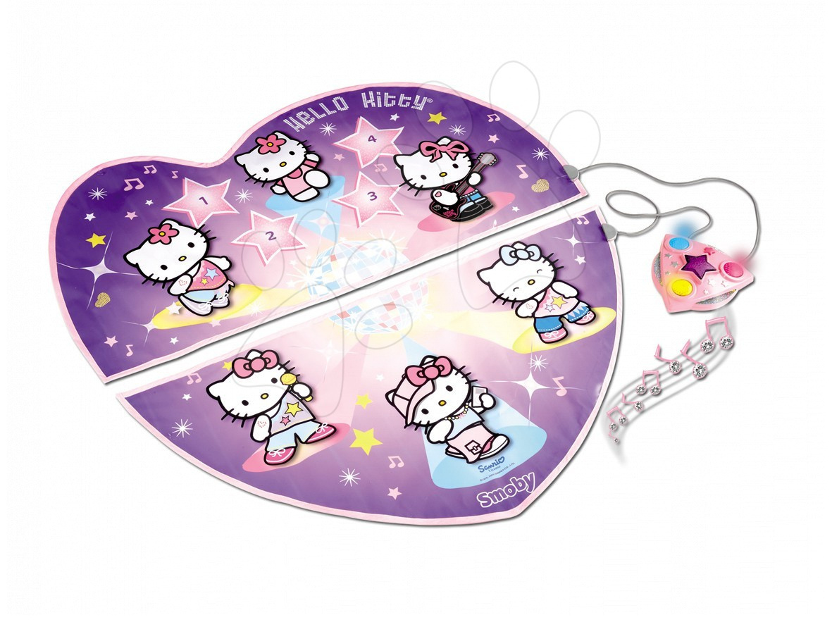 Staré položky - Elektrický dvojdielny koberec na tancovanie Hello Kitty Smoby