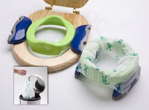 Cestovní nočník/redukce na WC Potette Plus zeleno-modrý od 15 měsíců