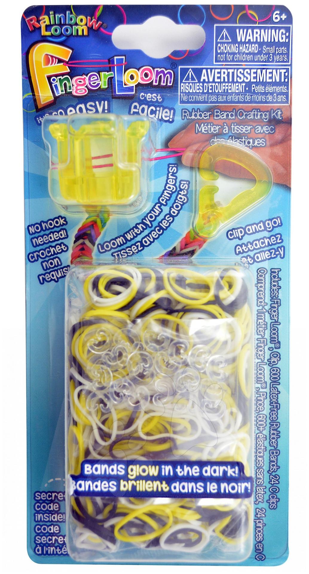 Rainbow Finger Loom - Finger Loom Rainbow Loom 600 kusov žltý
