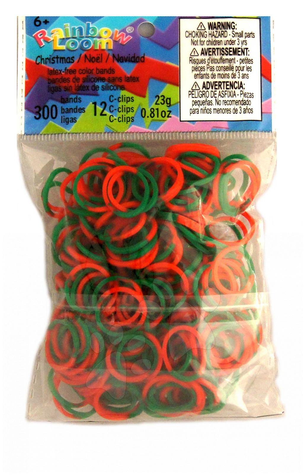 Rainbow Loom gumičky mix - Rainbow Loom originálne gumičky vianočný mix 300 kusov od 6 rokov