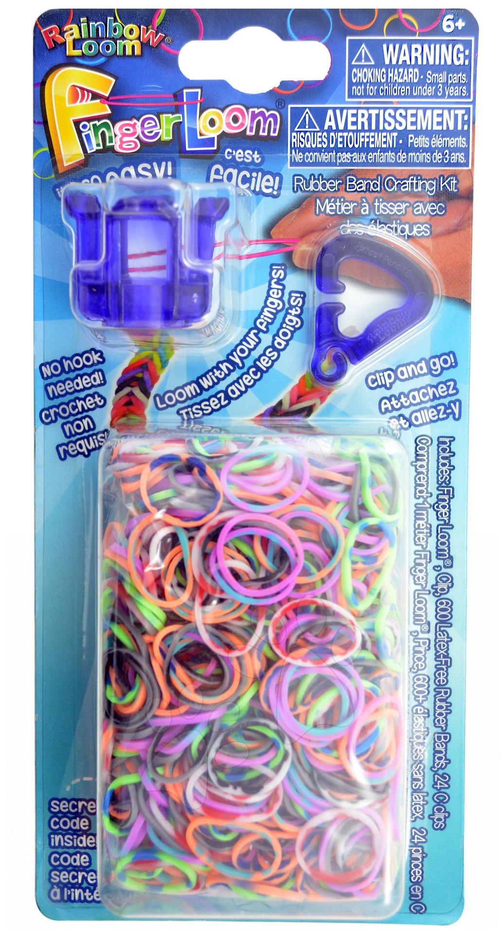 Rainbow Finger Loom - Finger Loom Rainbow Loom 600 kusov fialový