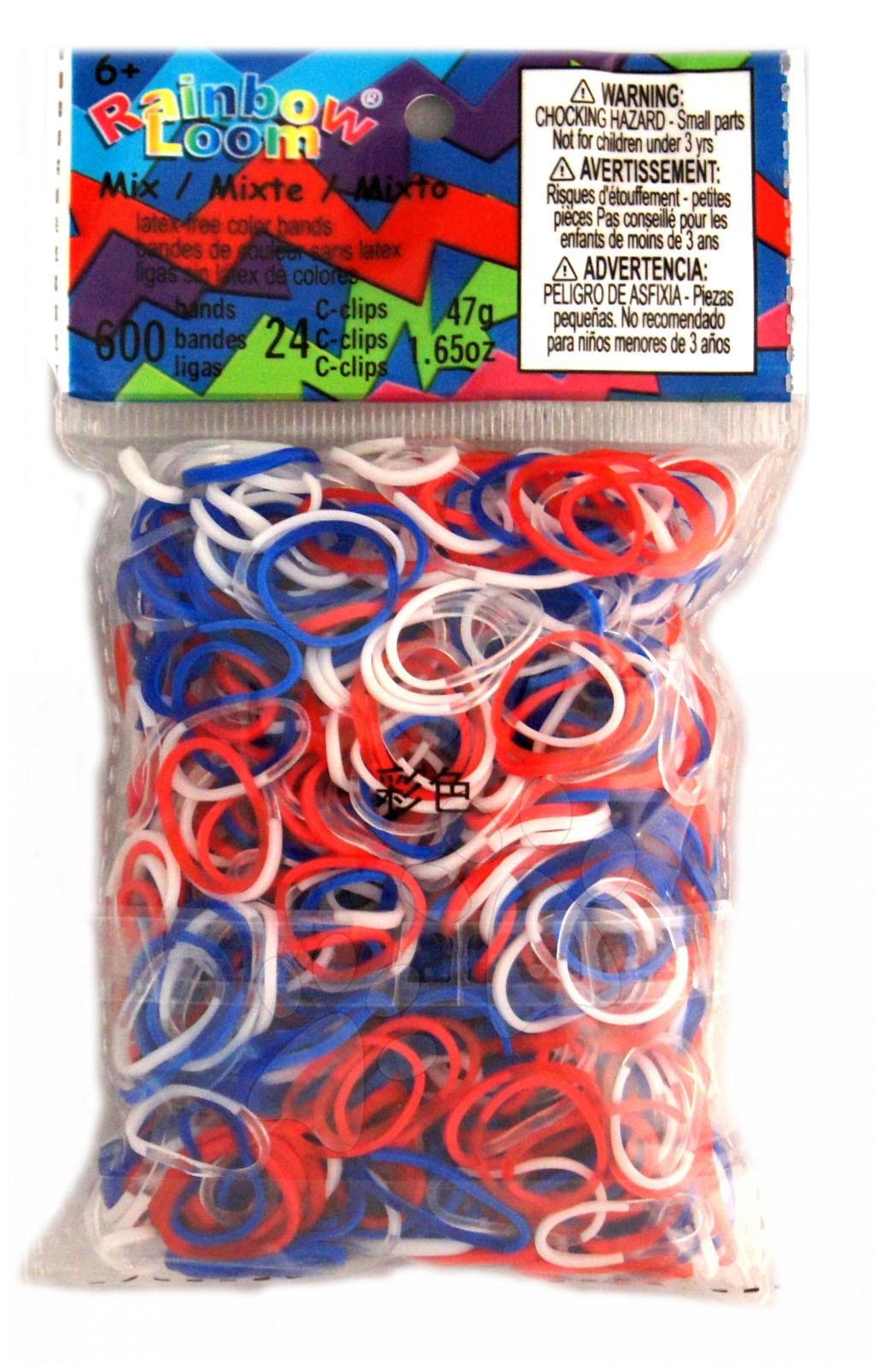 Rainbow Loom originální gumičky trikolóra mix 600 kusů od 6 let
