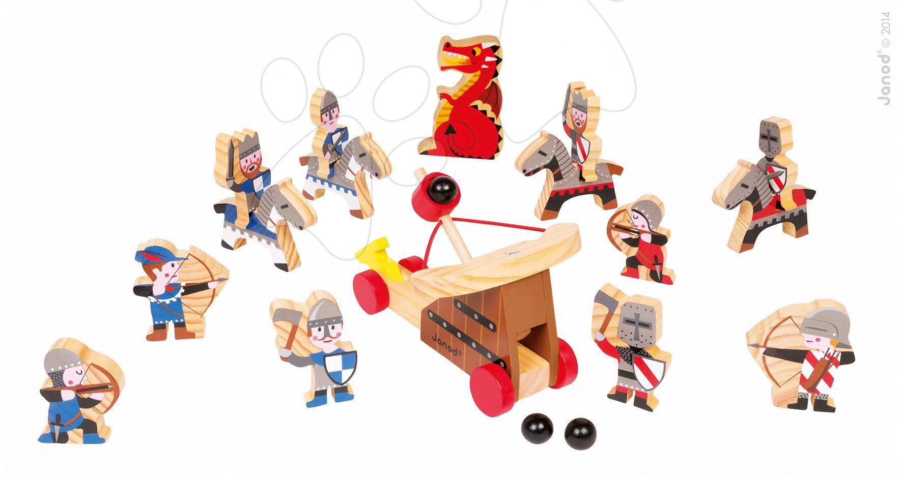 Dřevěná souprava rytířů a vojáků Wooden Worlds Janod 19 dílů od 4 let