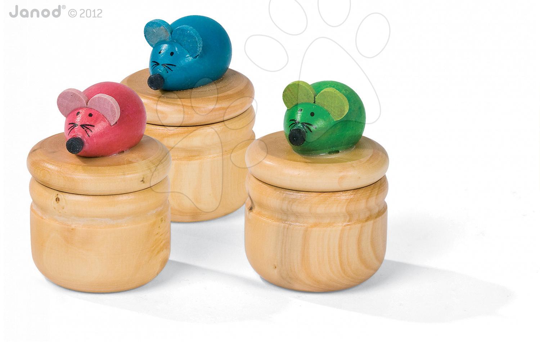 Dřevěná tradiční hračka 3D Mouse Tooth Box Janod #VALUE!
