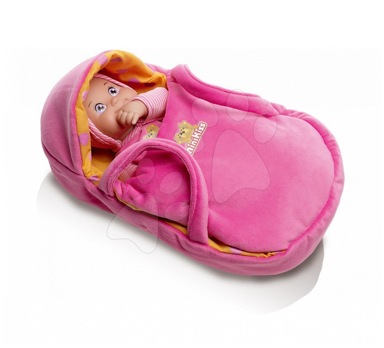 Babahordozó Minikiss Smoby 27 cm-es babákhoz 12 hó-tól