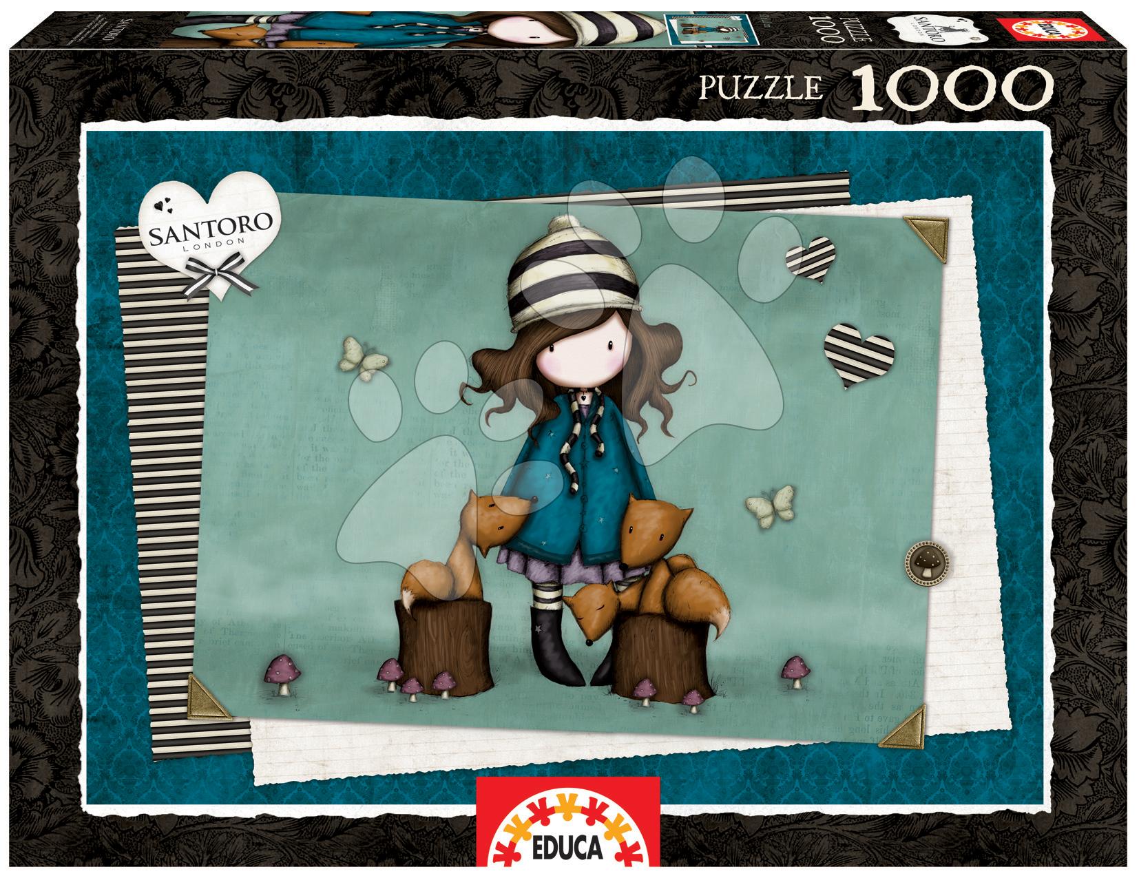 Puzzle 1000 dielne - Puzzle Santoro Gorjuss The foxes Educa 1000 dielov od 12 rokov