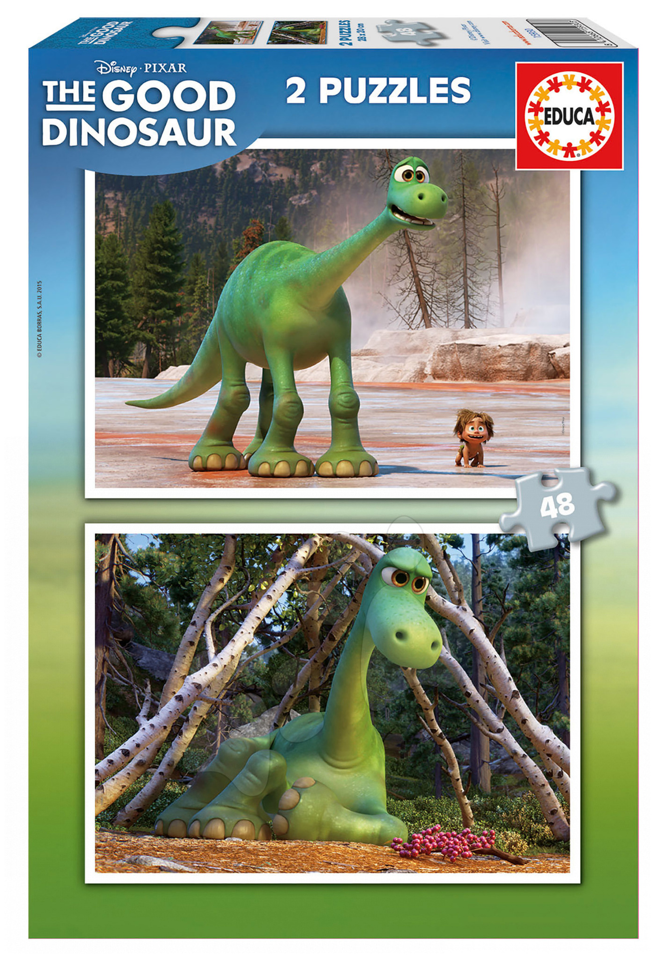 Puzzle Dobrý dinosaurus Educa 2x48 dílků