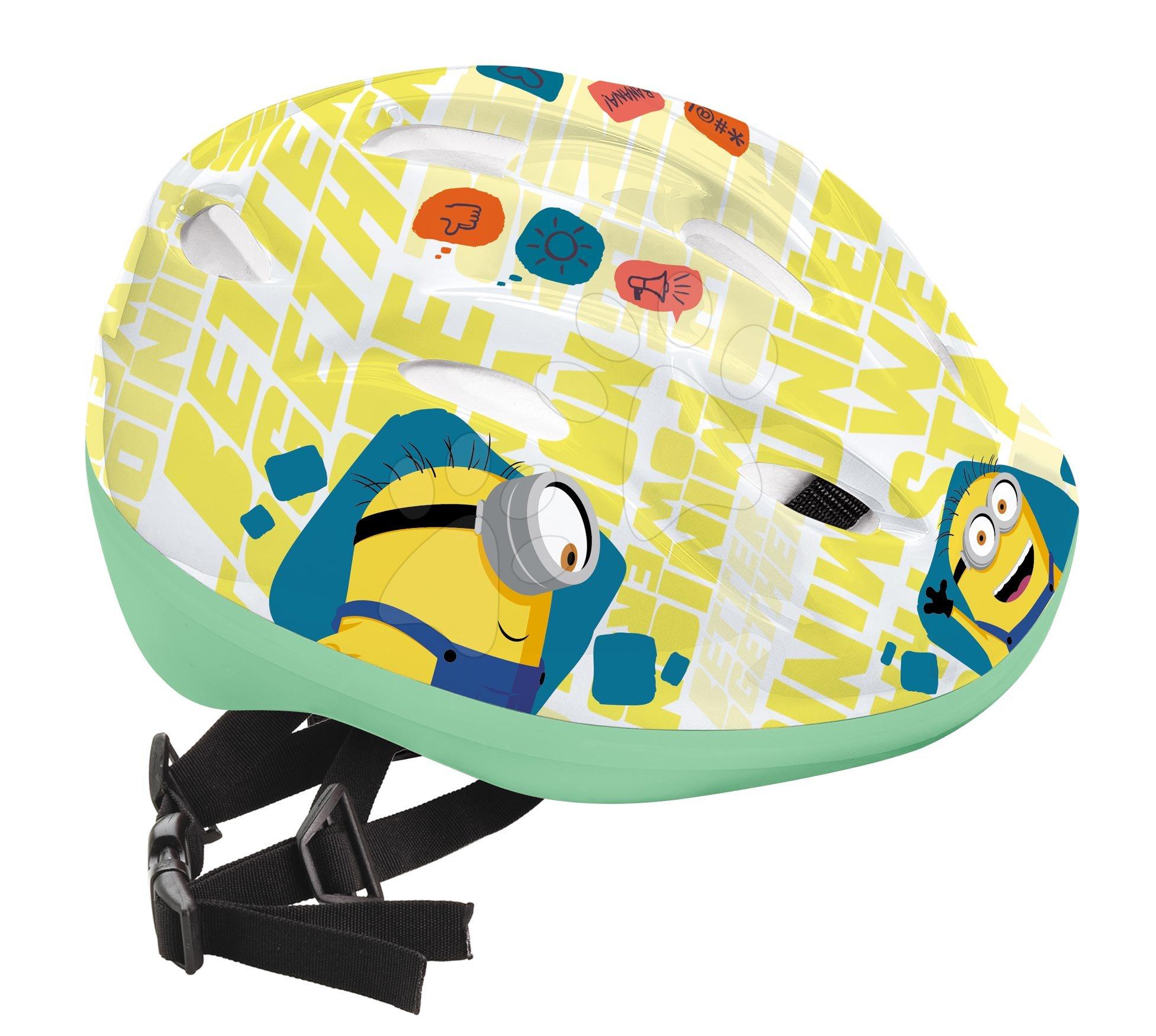 Detské prilby - Prilba Mimoni Mondo veľkosť 52-56 bielo-žltá