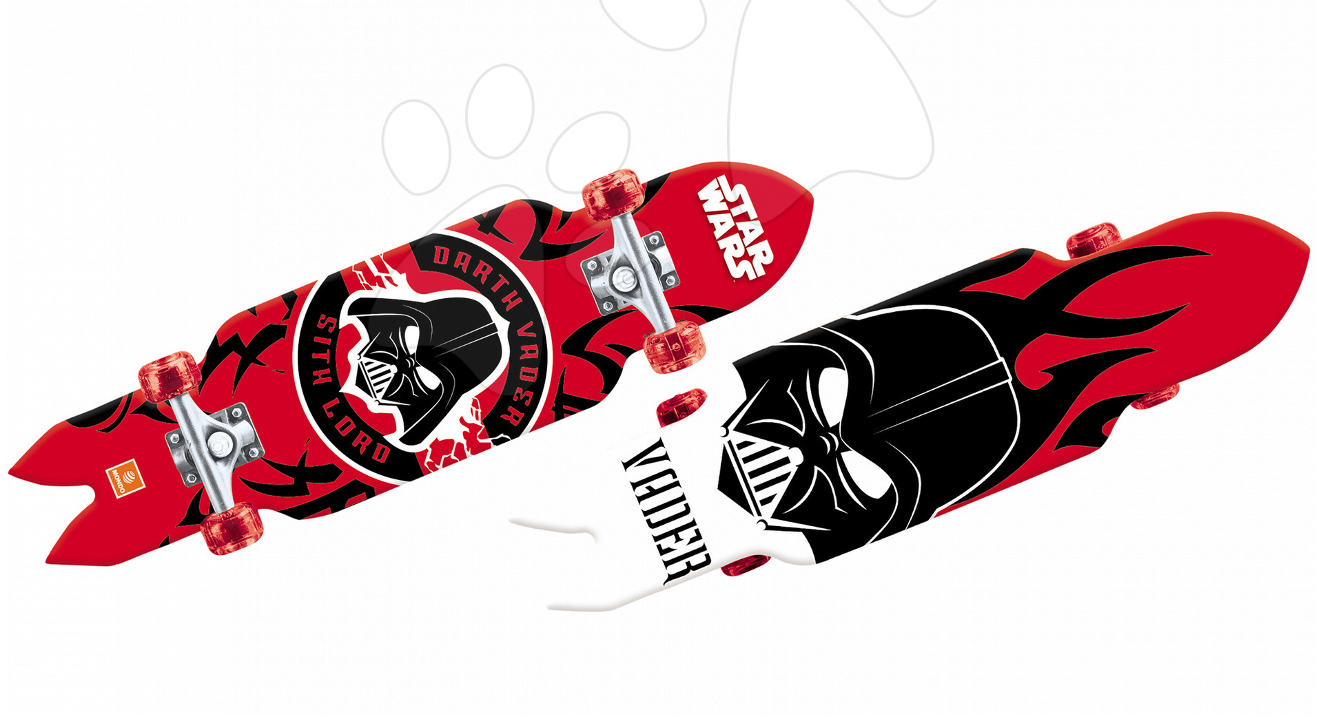 Detské skateboardy - Skateboard Star Wars Shuttle Mondo svietiaci dĺžka 80 cm
