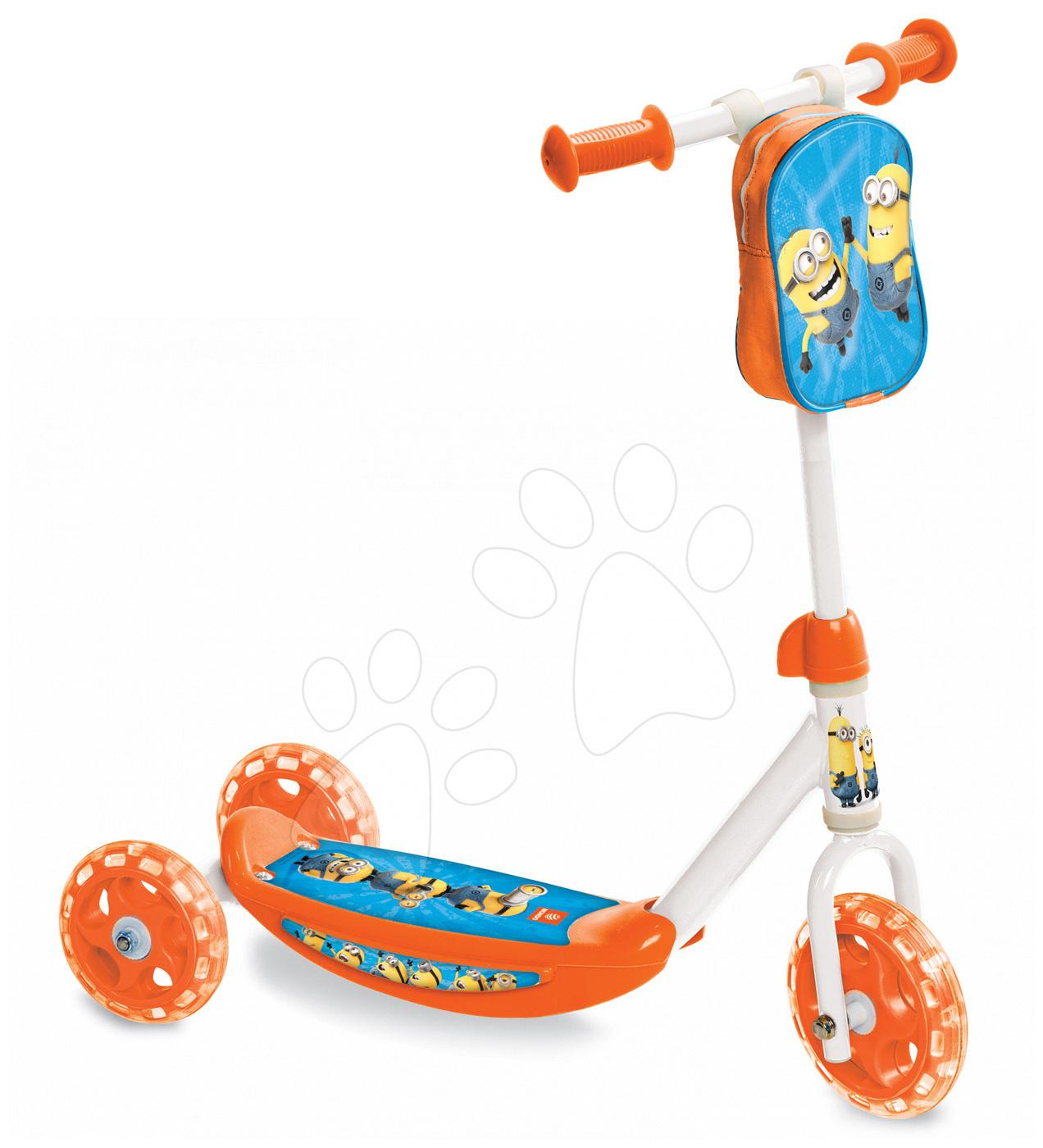 Koloběžka Mimoni Mondo tříkolová s taškou
