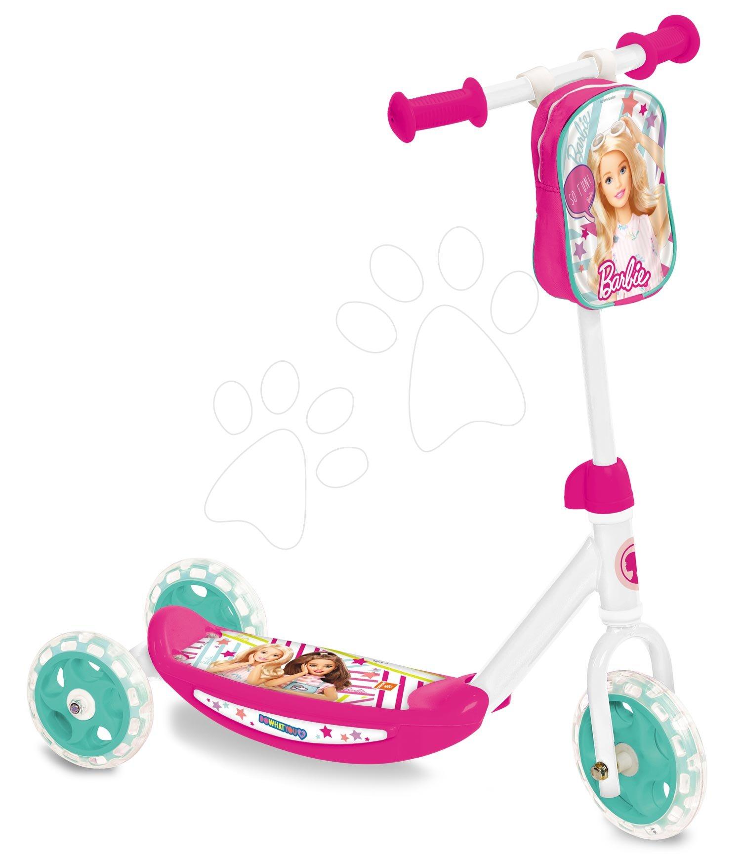 Kolobežky trojkolesové - Trojkolesová kolobežka Barbie Mondo s taškou od 3 rokov